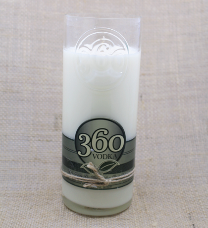 360 Vodka Hand-Poured Soy Candle | Furbish & Fire Candle Co.
