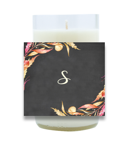 Autumn Monogram Hand Poured Soy Candle | Furbish & Fire Candle Co.