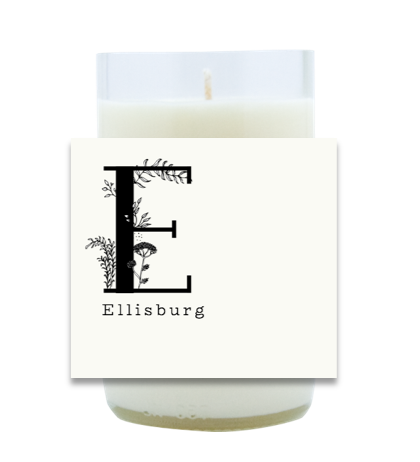 Simple Floral Monogram Hand Poured Soy Candle | Furbish & Fire Candle Co.