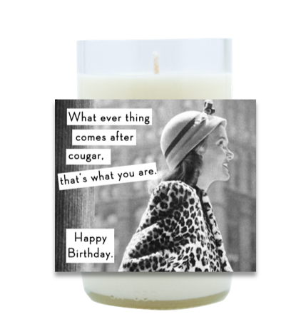 Cougar Hand Poured Soy Candle | Furbish & Fire Candle Co.