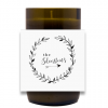 Family Wreath Hand Poured Soy Candle | Furbish & Fire Candle Co.