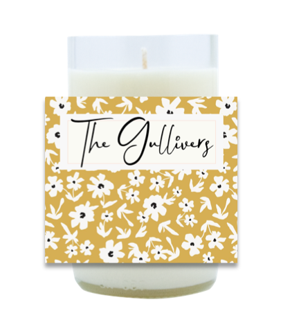 Floral Pattern Name Hand Poured Soy Candle | Furbish & Fire Candle Co.