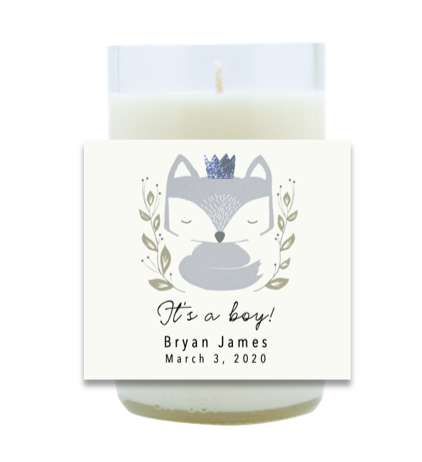 Foxy Baby Hand Poured Soy Candle | Furbish & Fire Candle Co.