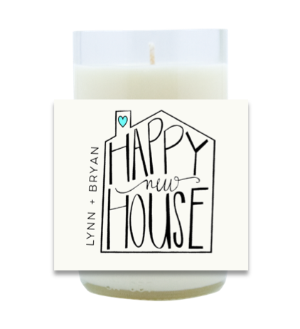 Happy New House Hand Poured Soy Candle | Furbish & Fire Candle Co.