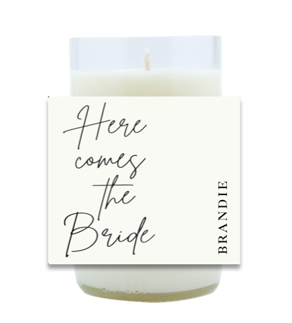 Here Comes The Bride Hand Poured Soy Candle | Furbish & Fire Candle Co.