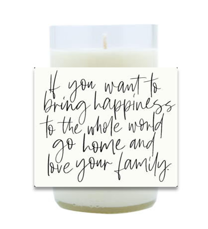 Love Your Family Hand Poured Soy Candle | Furbish & Fire Candle Co.