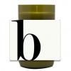 Modern Monogram Hand Poured Soy Candle | Furbish & Fire Candle Co.