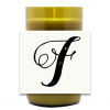 Script Monogram Hand Poured Soy Candle | Furbish & Fire Candle Co.