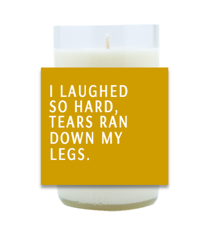 I Laughed So Hard Hand Poured Soy Candle | Furbish & Fire Candle Co.