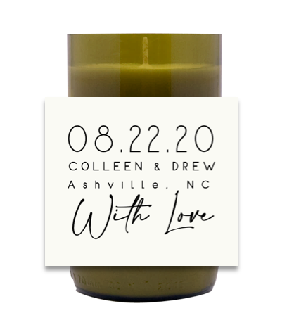 With Love Hand Poured Soy Candle | Furbish & Fire Candle Co.