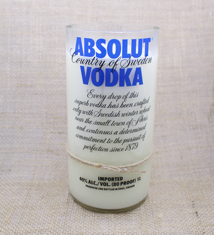Absolut Vodka Hand-Poured Soy Candle | Furbish & Fire Candle Co.