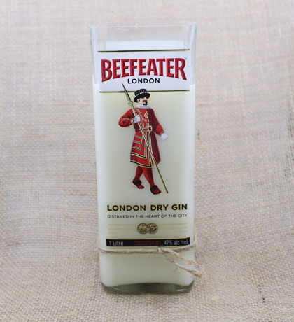 Beefeater Dry Gin Hand-Poured Soy Candle | Furbish & Fire Candle Co.