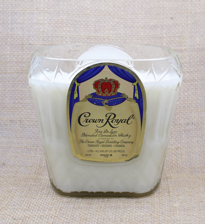 Crown Royal Whiskey Hand-Poured Soy Candle | Furbish & Fire Candle Co.