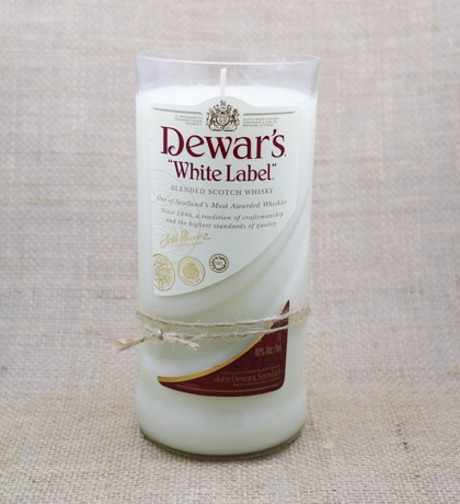 Dewar's White Label Hand-Poured Soy Candle | Furbish & Fire Candle Co.