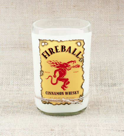 Fireball Cinnamon Whiskey Hand-Poured Soy Candle | Furbish & Fire Candle Co.
