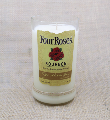 Four Roses Bourbon Hand-Poured Soy Candle | Furbish & Fire Candle Co.