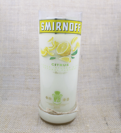 Smirnoff Citrus Vodka Hand-Poured Soy Candle | Furbish & Fire Candle Co.