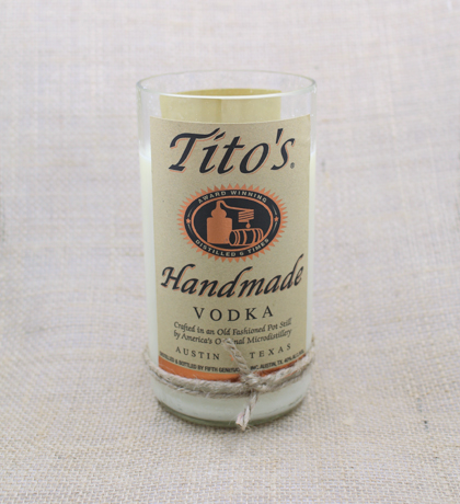 Tito's Vodka Hand Poured Soy Candle | Furbish & Fire Candle Co.