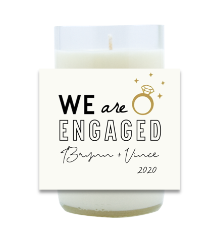 We Are Engaged Hand Poured Soy Candle | Furbish & Fire Candle Co.
