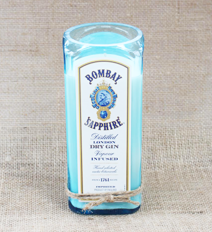 Bombay Sapphire Hand-Poured Soy Candle | Furbish & Fire Candle Co.