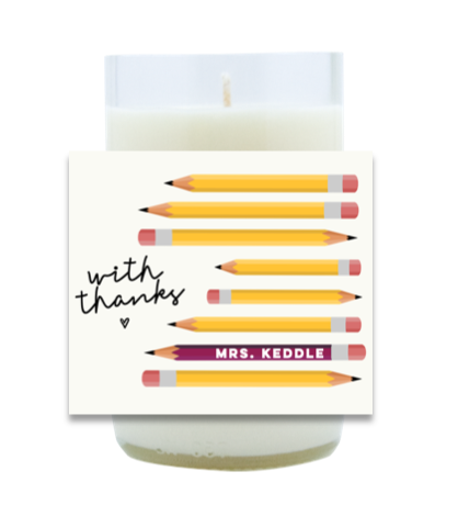 Pencils Hand Poured Soy Candle | Furbish & Fire Candle Co.