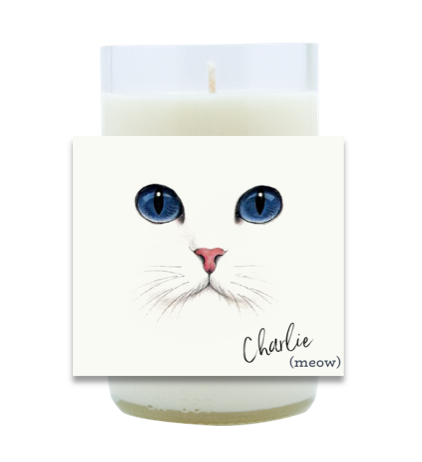 Cat Face Hand Poured Soy Candle | Furbish & Fire Candle Co.