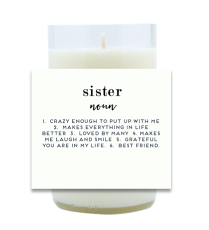 Sister Definition Hand Poured Soy Candle | Furbish & Fire Candle Co.