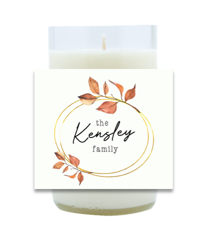 Autumn Leaves Family Name Hand Poured Soy Candle | Furbish & Fire Candle Co.