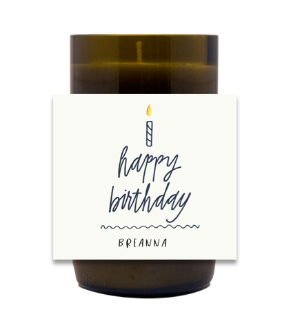 Birthday Candle Hand Poured Soy Candle | Furbish & Fire Candle Co.