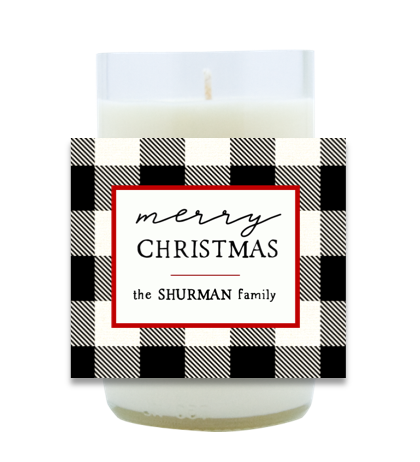 Christmas Family Name Hand Poured Soy Candle | Furbish & Fire Candle Co.
