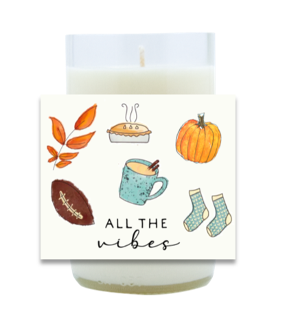 All the Vibes Hand Poured Soy Candle   Furbish & Fire Candle Co.
