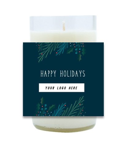 Happy Holidays Hand Poured Soy Candle | Furbish & Fire Candle Co.