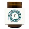 Holiday Monogram Hand Poured Soy Candle | Furbish & Fire Candle Co.