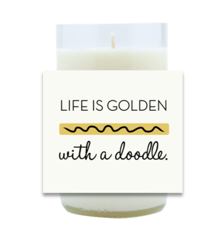 Life is Golden With a Doodle Hand Poured Soy Candle | Furbish & Fire Candle Co.