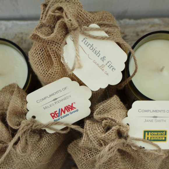 Promotional Bag Tags Hand-Poured Soy Candle | Furbish & Fire Candle Co.