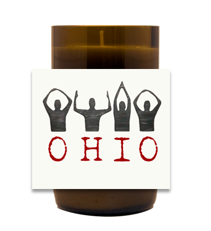 O-H-I-O Hand Poured Soy Candle | Furbish & Fire Candle Co.