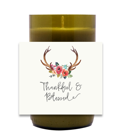 Thankful and Blessed Hand Poured Soy Candle | Furbish & Fire Candle Co.