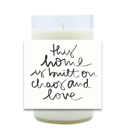 Chaos and Love Hand Poured Soy Candle | Furbish & Fire Candle Co.