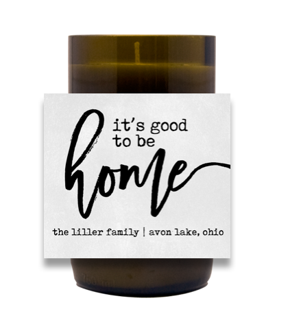 Good to be Home Hand-Poured Wine Bottle Candles | Furbish & Fire Candle Co.