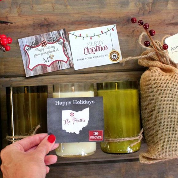 Personalized Holiday Candles for Your Business