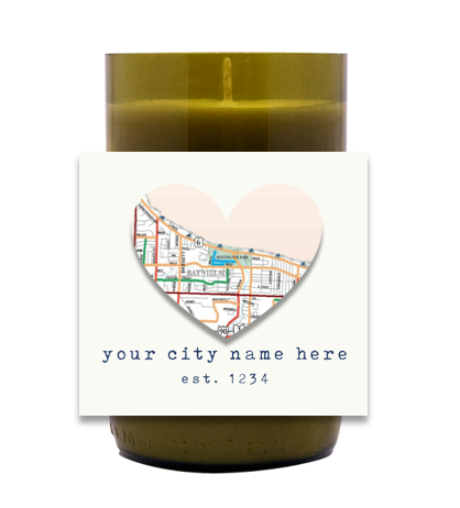 Map of City Hand Poured Soy Candle | Furbish & Fire Candle Co.