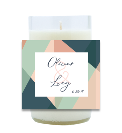 Abstract Wedding Hand Poured Soy Candle | Furbish & Fire Candle Co.