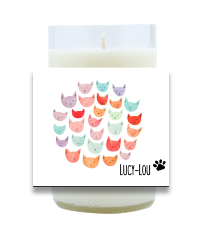 Colorful Cats Hand Poured Soy Candle | Furbish & Fire Candle Co.