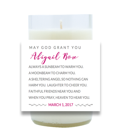 Irish Baby Blessing Hand Poured Soy Candle | Furbish & Fire Candle Co.
