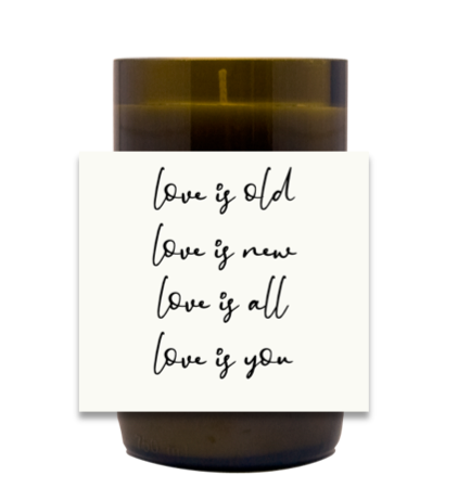 Love Is Wedding Hand Poured Soy Candle | Furbish & Fire Candle Co.