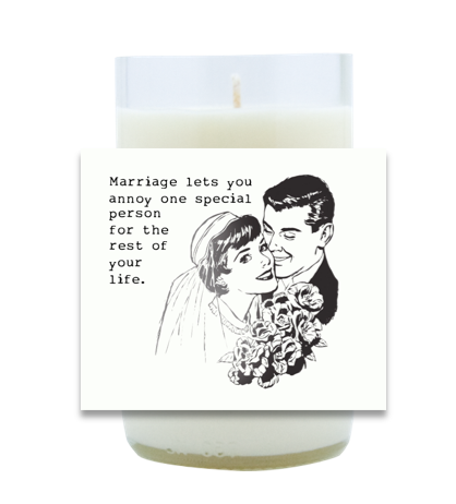 Marriage Lets You Hand Poured Soy Candle   Furbish & Fire Candle Co.