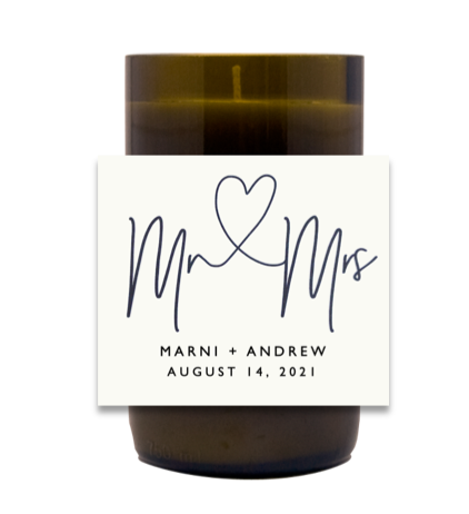 Mr + Mrs Hand Poured Soy Candle | Furbish & Fire Candle Co.