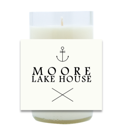 Personalized Lake House Hand Poured Soy Candle | Furbish & Fire Candle Co.