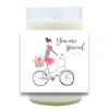 Personalized Bicycle Hand Poured Soy Candle | Furbish & Fire Candle Co.