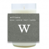 Prominent Monogram Hand Poured Soy Candle | Furbish & Fire Candle Co.